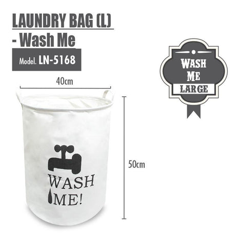 Laundry Necessities - HOUZE Laundry Bag (Large) - Wash Me