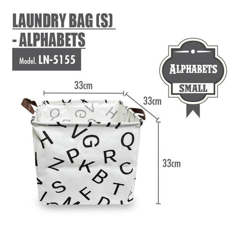 Laundry Necessities - HOUZE Laundry Bag (Small) - Alphabets