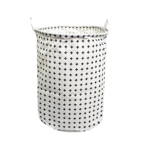 HOUZE - Laundry Bag (Small) - Black Criss Cross - HOUZE - The Homeware Superstore