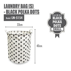 HOUZE - Laundry Bag (Small) - Black Polka Dots - HOUZE - The Homeware Superstore