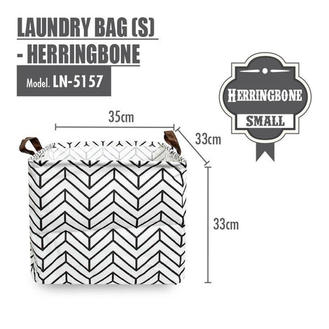 HOUZE - Laundry Bag (Small) - Herringbone - HOUZE - The Homeware Superstore