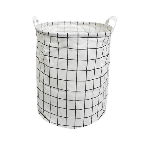 Laundry Necessities - HOUZE Laundry Bag (Small) - White Checkers