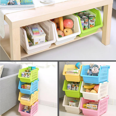 Modular Stacking Drawer - Houze Stackable Multi Purpose Rectangle Basket