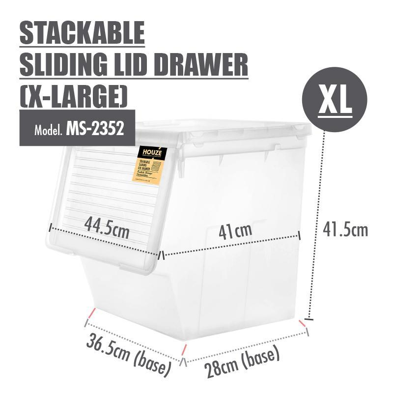 HOUZE Stackable Sliding Lid Drawer (X-Large) - HOUZE - The Homeware Superstore