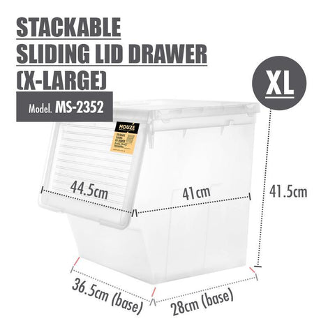 Modular Stacking Drawer - Houze Stackable Sliding Lid Drawer (X-Large)