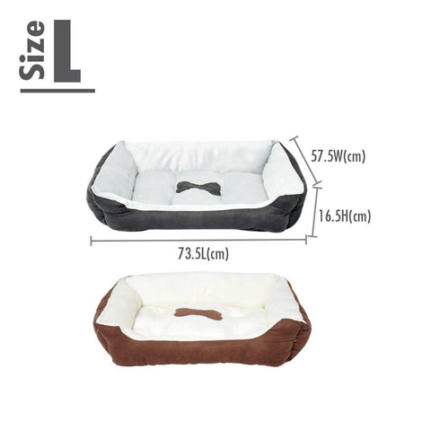 Pet Cushion Bedding - Brown (Large) - HOUZE - The Homeware Superstore