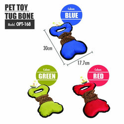 Pet Toy Tug Bone (Red) - HOUZE - The Homeware Superstore