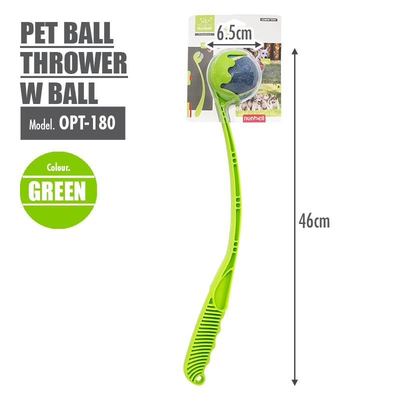 Pet Ball Thrower with Ball (Green) - HOUZE - The Homeware Superstore