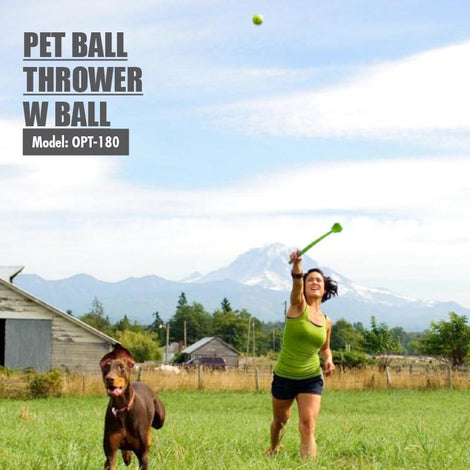 Pet Ball Thrower with Ball (Green)