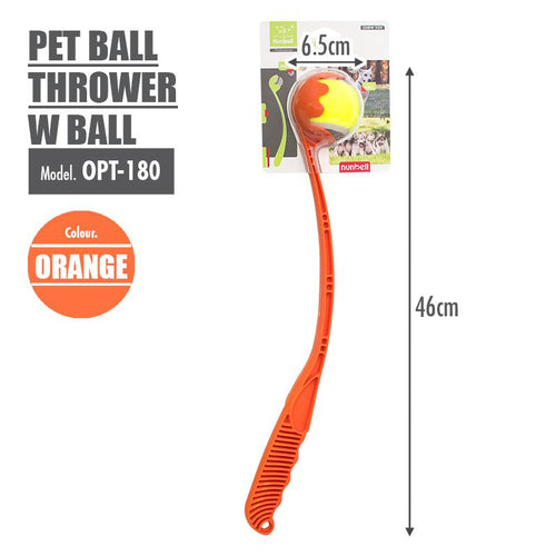 Pet Ball Thrower with Ball (Orange) - HOUZE - The Homeware Superstore
