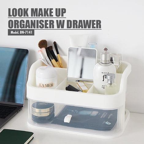 LOOK Make Up Organiser with Drawer - HOUZE - The Homeware Superstore