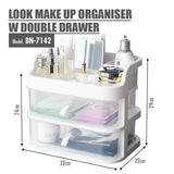 LOOK Make Up Organiser with Double Drawer - HOUZE - The Homeware Superstore