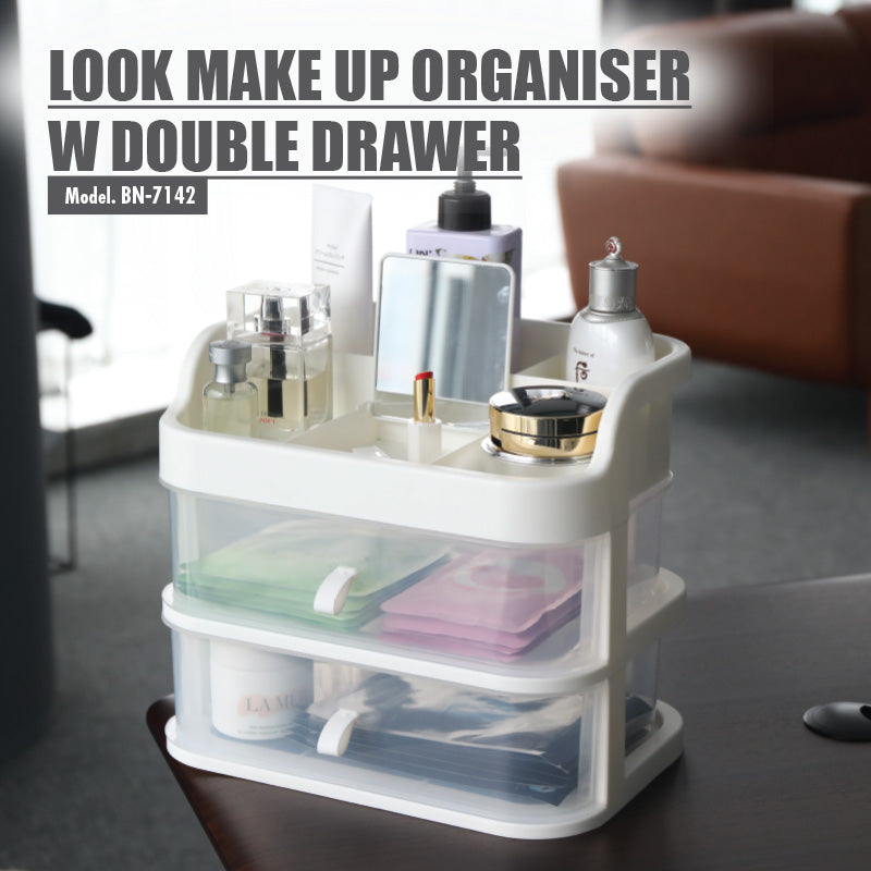 LOOK Make Up Organiser with Double Drawer