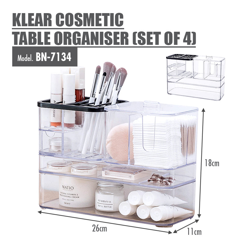[BUY 1 FREE 1] KLEAR Cosmetic Table Organiser - HOUZE - The Homeware Superstore