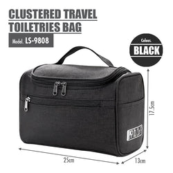 HOUZE - Clustered Travel Toiletries Bag (Black) - HOUZE - The Homeware Superstore