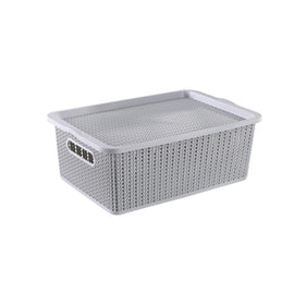 Storage Basket - Houze Braided Storage Basket With Lid (Medium)
