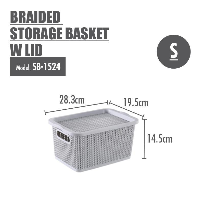 HOUZE Braided Storage Basket with Lid (Small) - HOUZE - The Homeware Superstore