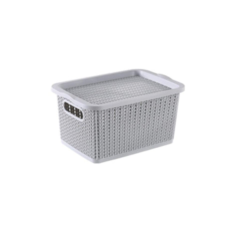 Storage Basket - Houze Braided Storage Basket With Lid (Small)