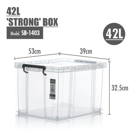 Storage Boxes - Houze 42L 'STRONG' Box