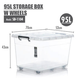 Storage Boxes - Houze 95L Storage Box With Wheels