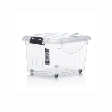 Storage Boxes - [SET OF 3] HOUZE 30L Motif Storage Box With Wheels