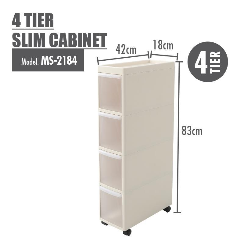 HOUZE 4 Tier Slim Cabinet - HOUZE - The Homeware Superstore
