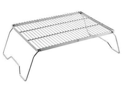 Red Roads Fire Grill - CampWell Stainless Steel Folding Cooking Grill
