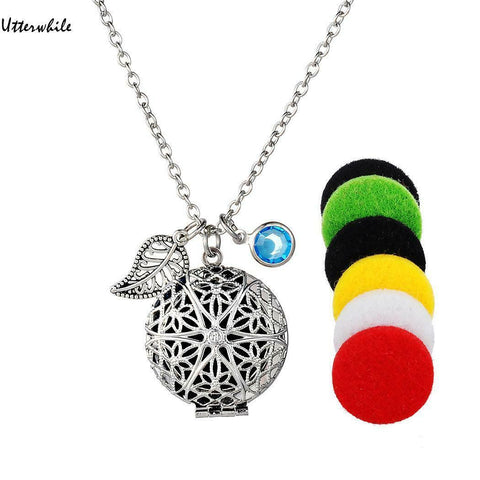 Fragranced Pendant Necklace (Feather and Stone)