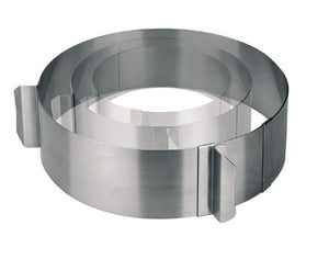 ST/STEEL ADJUSTABLE PASTRY RING - 16-30 CM / H 7 CM