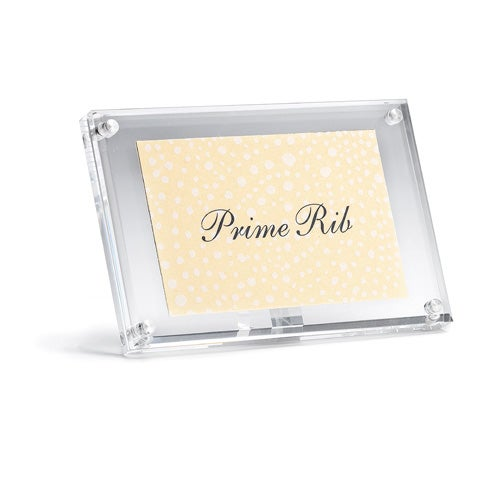 MAGNETIC RECTANGULAR BUFFET TAG HOLDER - 10x3x6.5cm