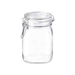 FIDO CLIP-TOP GLASS JAR 1000 ML - 33 3/4 OZ