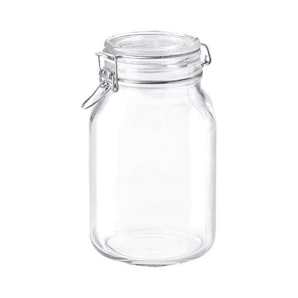 FIDO CLIP-TOP GLASS JAR 2000 ML - 67 3/4 OZ