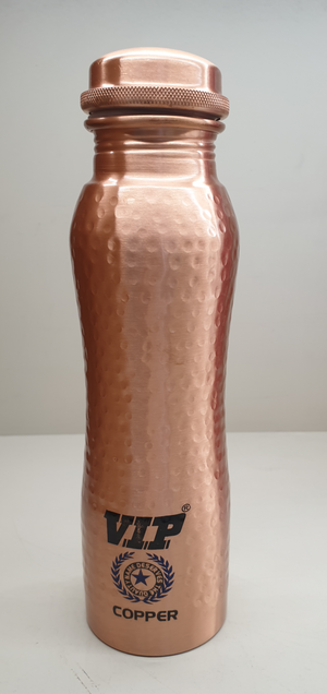 Copper Curve Hammered Water Bottle