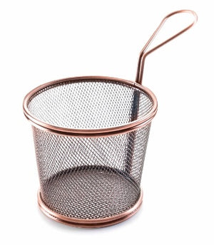 BRONZE ROUND CHIP BASKET D.9*8 CM