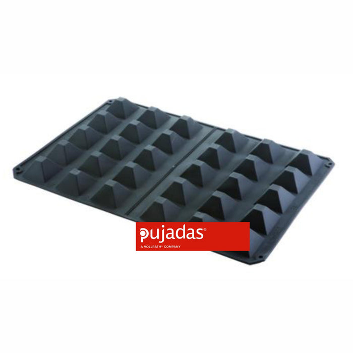 600 x 400 MM SILICON MOULD 30 PYRAMIDS FORM