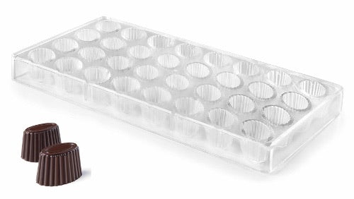 CHOCOLATE MOULD OVAL - DIA 30 X 18 MM / H 19 MM