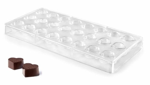CHOCOLATE MOULD HEART - 25 X 20 MM / H 11.5 MM