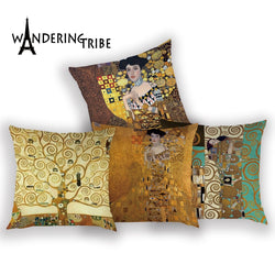 Gustav Klimt Oil Painting Pillow Case