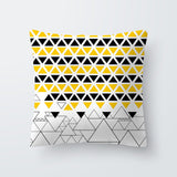 Yellow Print Customized Cushion Cover