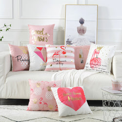 Pink Home Design Cushion Cover