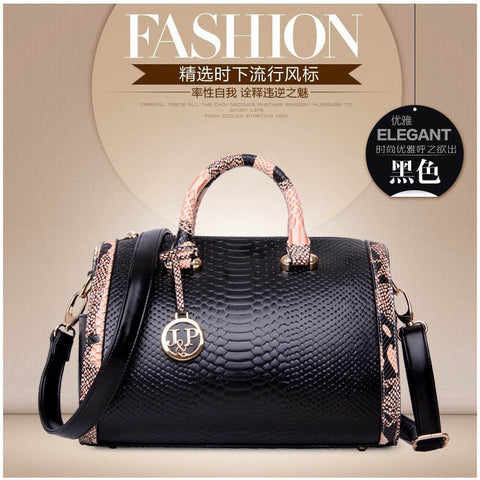 Fashion Serpentine Leather Bags Handbags Women Famous Brands Ladies  Shoulder Bags Designer - Be Your Own e204398463237