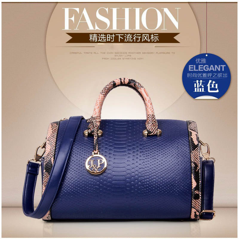 eff92bf7b210 Fashion Serpentine Leather Bags Handbags Women Famous Brands Ladies Sh –  Rafinity Passion