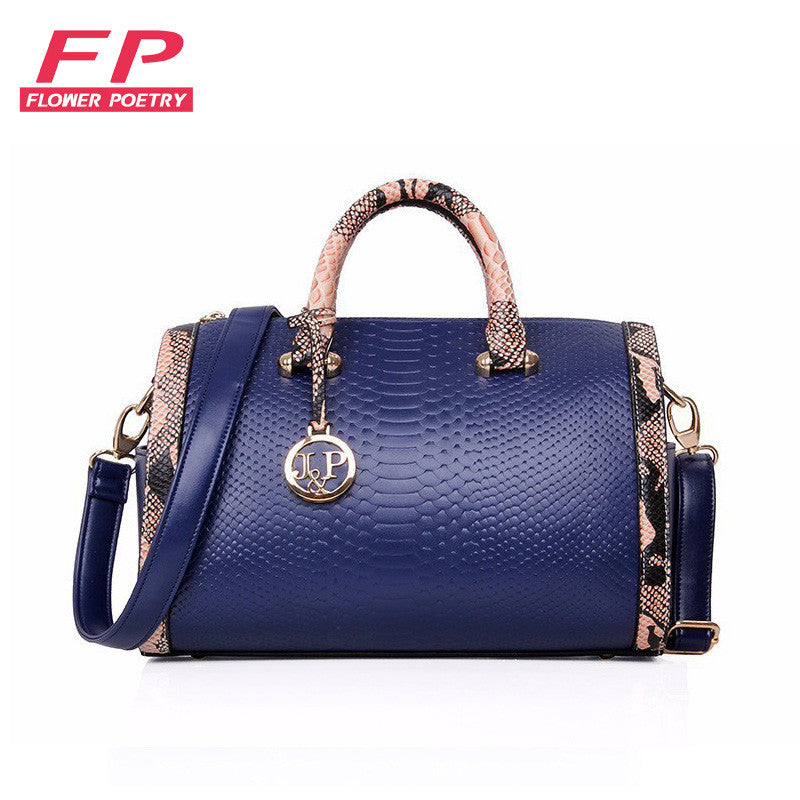 01b93f1ed9 Fashion Serpentine Leather Bags Handbags Women Famous Brands Ladies  Shoulder Bags Designer
