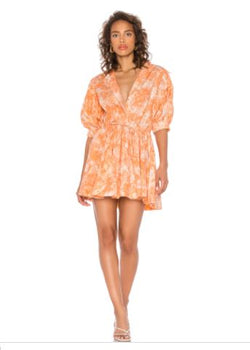 Mini Collar Dress - Force Orange - Size M
