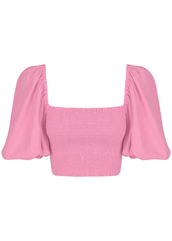 Crop With Puff Sleeve