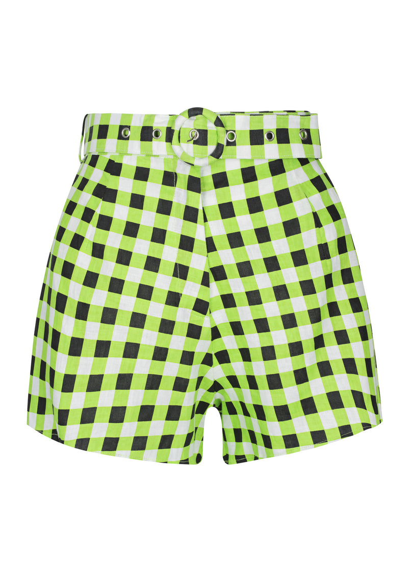 Checkmate Lime Bomber | Checkmate Lime Short