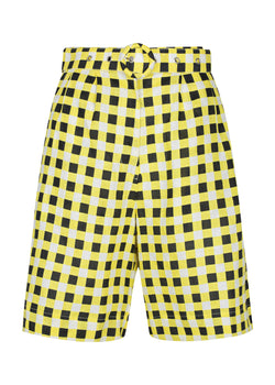 Checkmate Yellow Cropped Pant