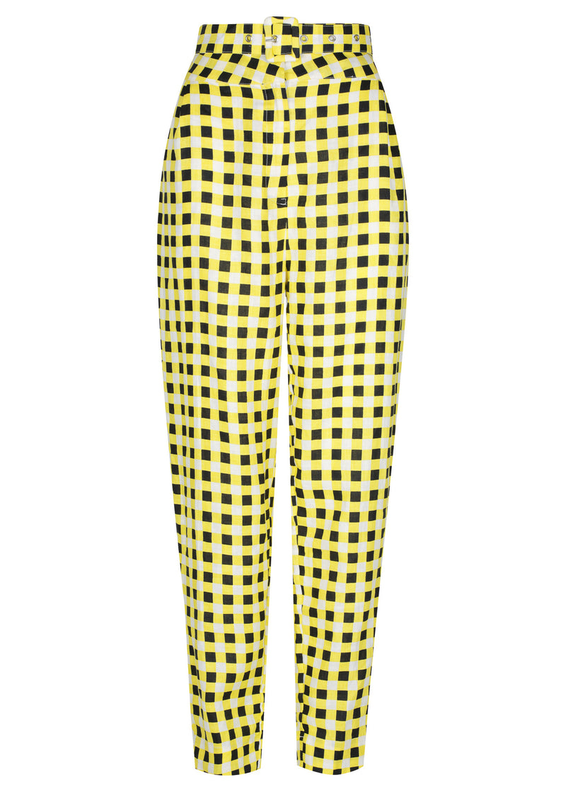 Checkmate Yellow Top | Checkmate Yellow Pant
