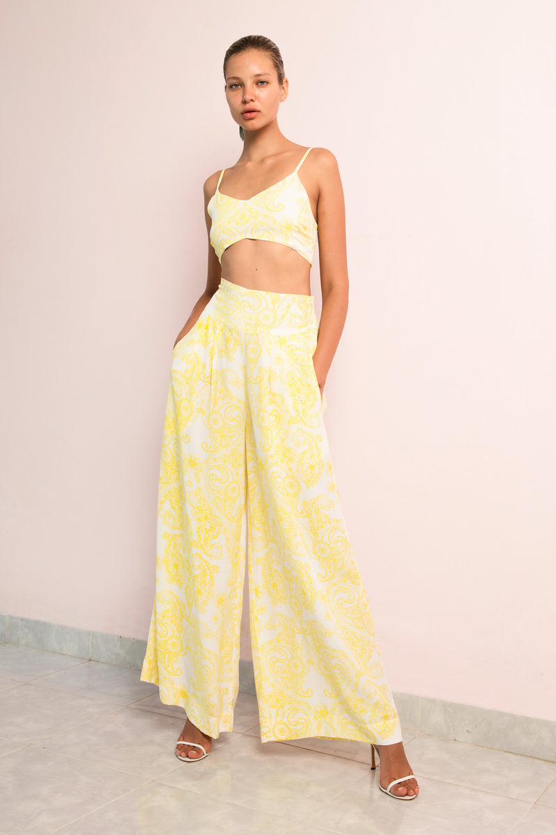 Crop Top | Wide Leg Pant