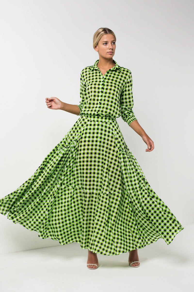 Checkmate Lime Shirt | Checkmate Skirt